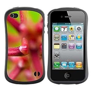 Suave TPU GEL Carcasa Funda Silicona Blando Estuche Caso de protección (para) Apple Iphone 4 / 4S / CECELL Phone case / / Plant Nature Forrest Flower 21 /