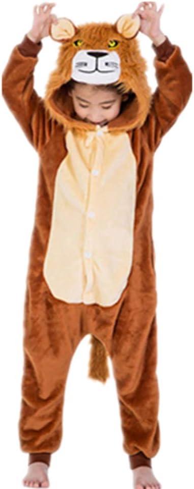 Tickos Unisexo Niños Animal Onesies Gracioso Animal Pijama Pijama Halloween Disfraces Monos (140CM, León)