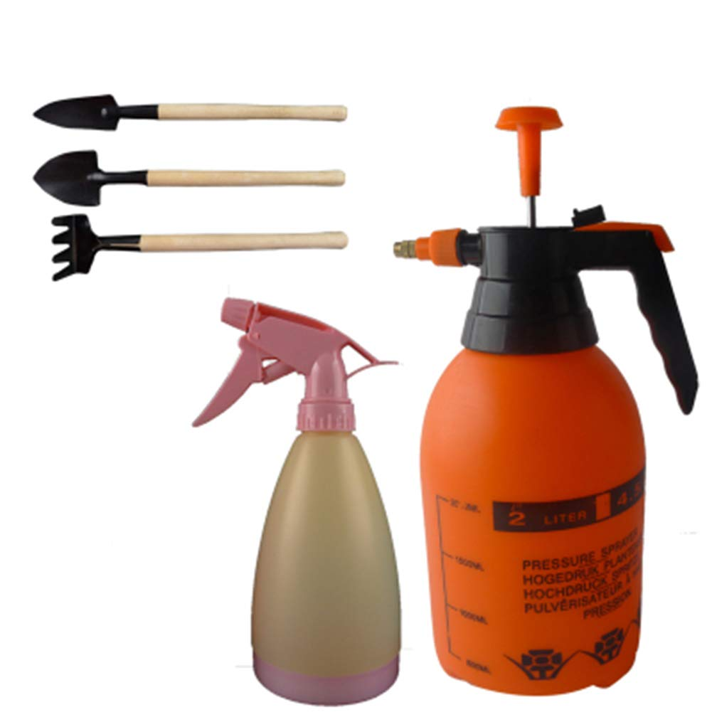 TELLW Watering Pot Gardening Watering Flower Household air Pressure Sprayer Pesticide Disinfection high Pressure Small Spray Kettle 2L Sprinkling Kettle