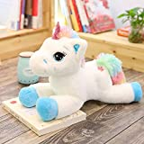 Large Unicorn Stuffed Animal,Cute Soft Giant Unicorn Plush Brithday Gift Star Blue/Pink (23.6'', Blue)