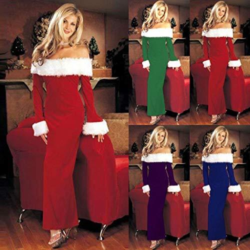 Da Festa Di Party Ab Unique Signore Abiti Dress Er Riscaldamento Natale Spalla Lunga Manica Cocktail Rittamano Stlie Fashion Blau Camicetta 2018 TKlFJ31c