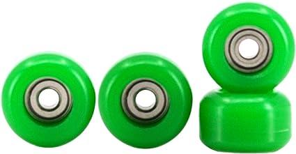 Fingerboard Bearing Wheels Teak Tuning Set of 4 Clear CNC Lathed