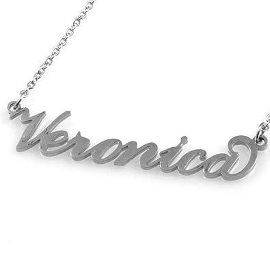 Collar con el Nombre Veronica de Acero de Las Mujeres del ...