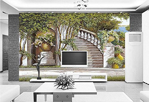 Yosot Luxus Custom 3D 3D 3D Fototapete Mediterran Schlafzimmer Wohnzimmer Garten 3D Wandbild Tapeten-300Cmx210Cm B07DQWGWCT Wandtattoos & Wandbilder 0ff8a6