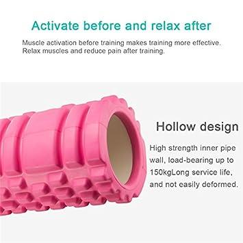 Xueliee Rodillo de espuma para masaje muscular con libro de ejercicios, morado: Amazon.es: Deportes y aire libre