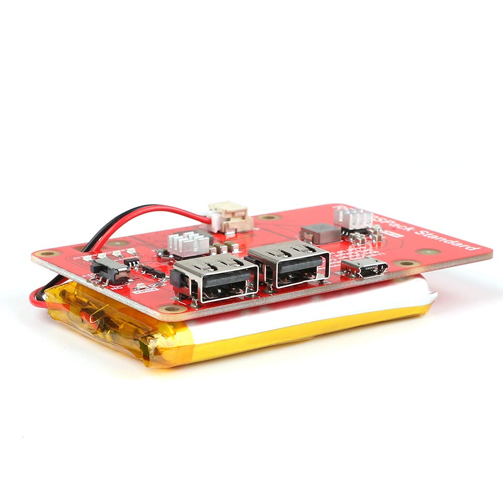 MakerFocus Raspberry Pi Battery Pack,(Raspberry Pi Battery, USB Battery Pack Raspberry Pi,) Expansion Board Power Supply with Switch for Cellphone and Raspberry Pi 3 Model B B+ and Pi 2B B+ by MakerFocus (Image #5)