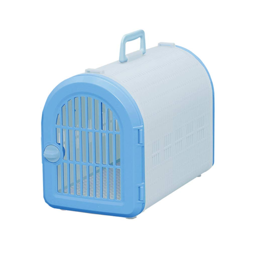 bluee M bluee M GJ Pet Out Portable Travel Bag Car Box Cat And Dog Universal (color   bluee, Size   M)