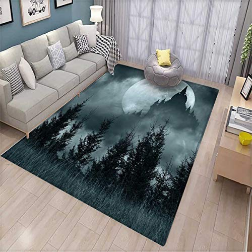 Halloween Bath Mats for Floors Magic Castle Silhouette
