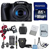 Canon PowerShot SX410 Digital Camera with 16GB SD Card + Extra Battery + SD Card Reader + Flexible Tripod + Deluxe Carrying Case + Lens Pen + 6 Piece Starter Kit
