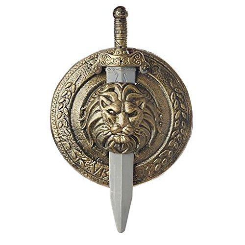 Costume Beautiful Kids Gladiator Shield And Sword]()