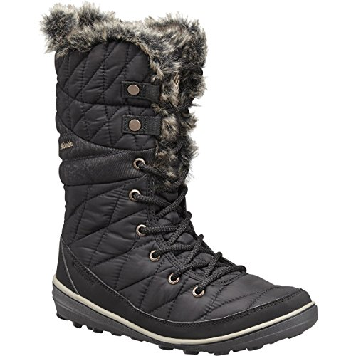 Columbia Women's Heavenly Omni-Heat Snow Boot, Black/Kettle, 8 Regular ()