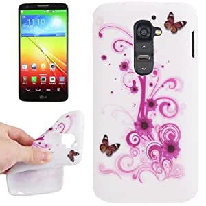 Butterfly and Daisy Pattern TPU Case for LG Optimus G2 / D801