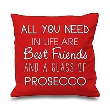 Rouge taie all you need en vie sont meilleurs amis et un verre de champagne