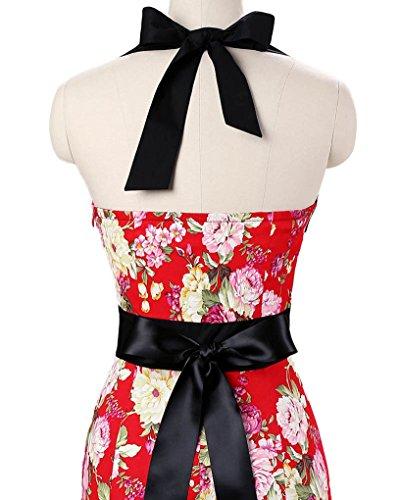 Rote neckholder kleider