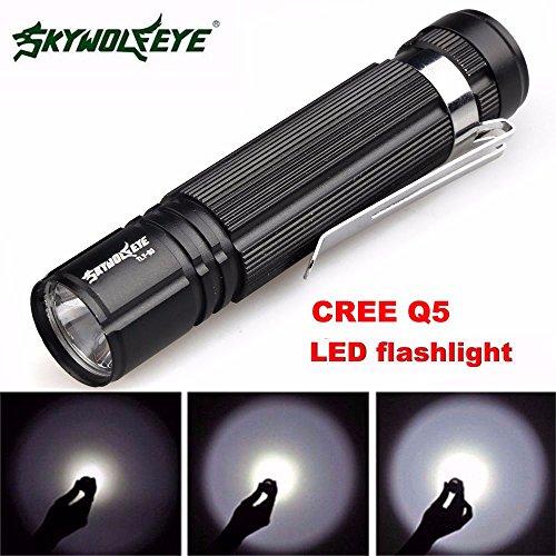 (❤️Jonerytime❤️7W CREE Q5 LED 1200lm Mini Flashlight Torch Light 14500/AA Lamp Waterproof Black)