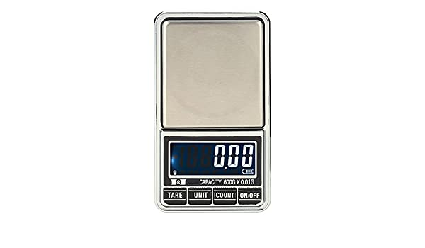 Amazon.com : 600g/0.01g Precision Balance Quality mini Electronic Scales Pocket Digital Scale Jewelry pesas weights weighting scales bascula : Everything ...