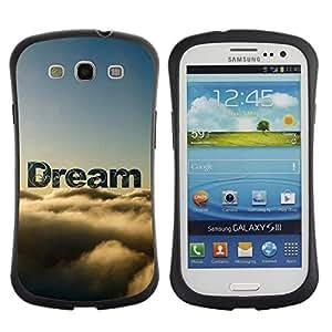 Paccase / Suave TPU GEL Caso Carcasa de Protección Funda para - Dream Clouds Sky Text Nature Hope - Samsung Galaxy S3 I9300