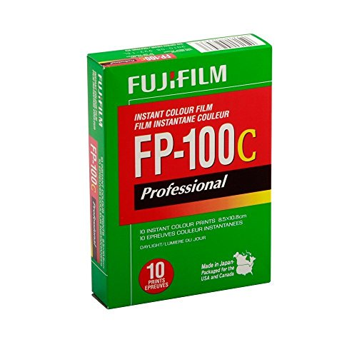 FUJIFILM FP-100C 3.25 X 4.25 Inches Professional Instant Color Film (Fuji 100c Polaroid Film)