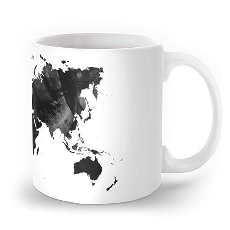 Amazon society6 black watercolor world map mug 11 oz hedehede society6 black watercolor world map mug 11 oz gumiabroncs Images