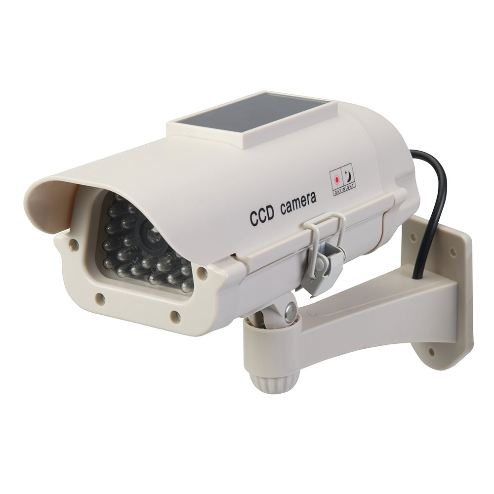 Silverline 614458 Cam/éra de Surveillance factice Solaire avec LED