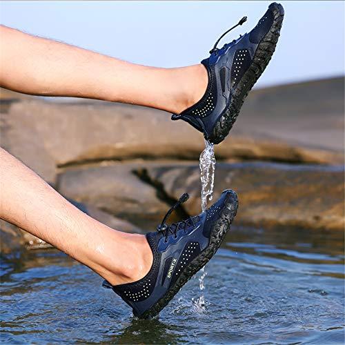 Barfußschuhe Dreamshow Blau Trekking Aquaschuhe Ultraleicht 46 Fitnessschuhe 36 Herren Sport Schuhe a Rutschfest Damen Outdoor AFwFS