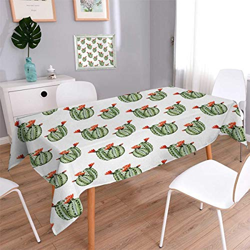 Anmaseven Cactus Square Rectangular Tablecloth Cactus with S