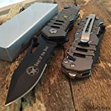 SNAKE EYE TACTICAL US SPECIAL FORCES RESCUE STYLE ASSISTED OPENING KNIFE WITH CLIP CAMPING OUTDOORS