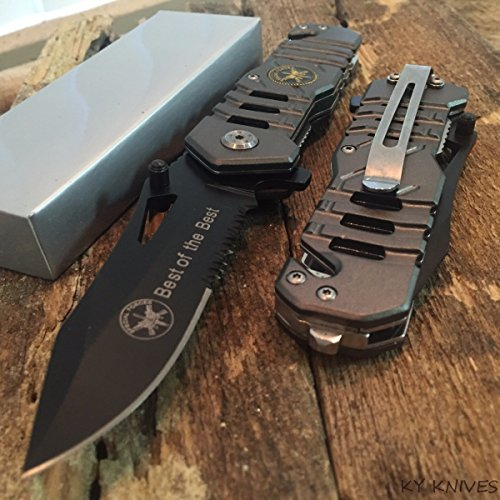 Special Tactical Knife - SNAKE EYE TACTICAL US SPECIAL FORCES RESCUE STYLE ASSISTED OPENING KNIFE WITH CLIP CAMPING OUTDOORS