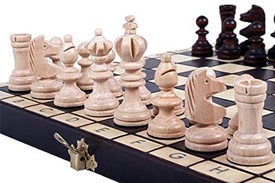 Chess Set: The Koliada, Unique Wood Chess Pieces, Chess Board & Chess Piece Storage