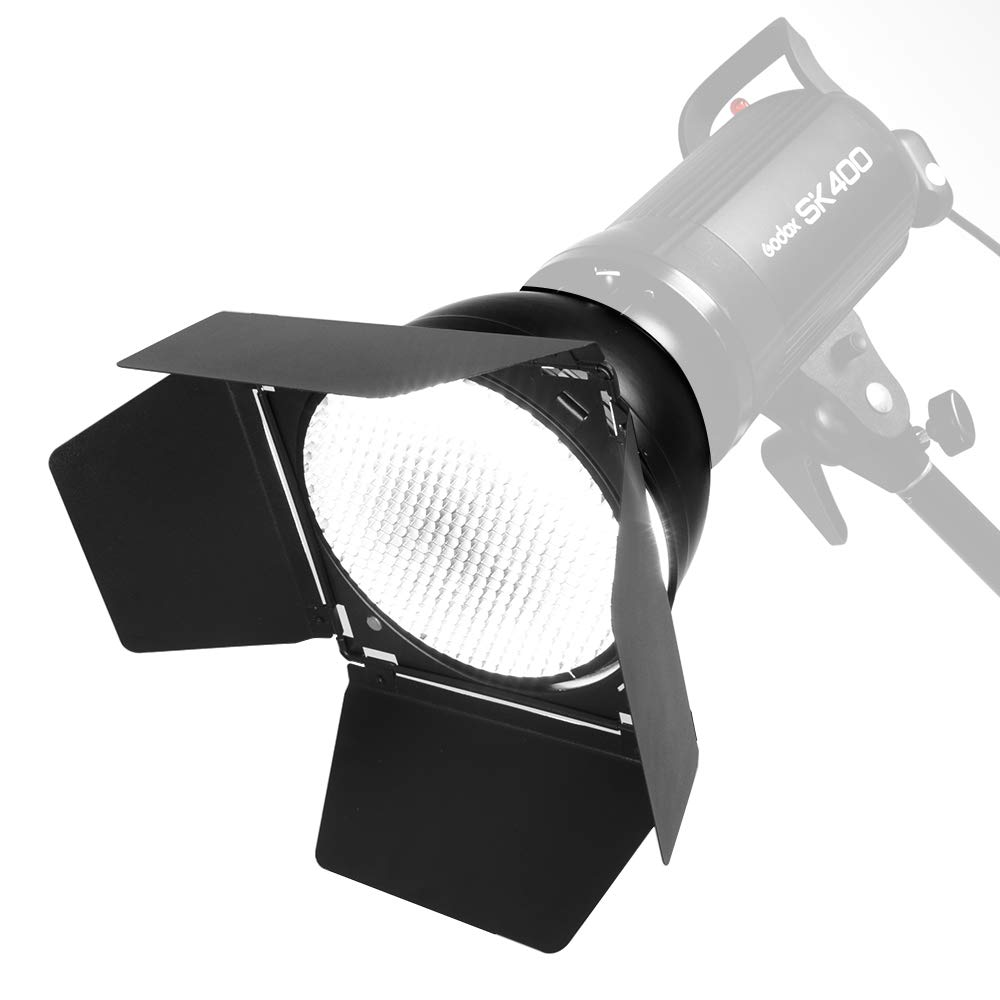 Ultrapure BD-04 Barn Door Honeycomb Grid 4 Color Filter + Bowens Mount Reflector for Studio Flash by Ultrapure (Image #3)