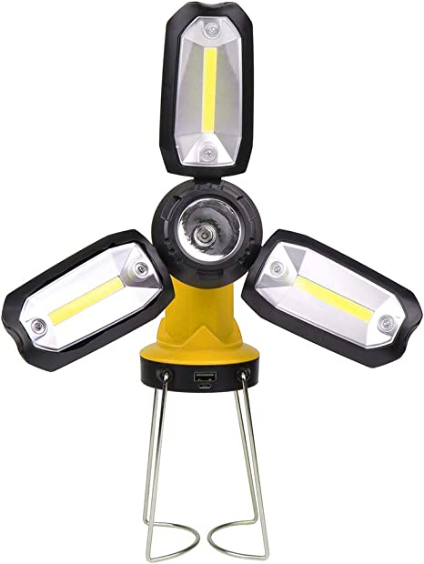 Multifunctional Outdoor Camping Working LED Tent Light Portable Emergency LampK