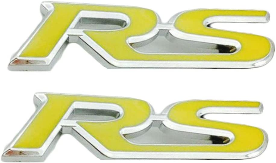 Red WindCar RS Emblems 3D RS Decal Emblem Sticker Badge For Camaro Chevrolet GM Series