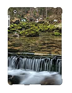 New Style Eatcooment Small Forest Waterfall Premium Tpu Cover Case For Ipad 2/3/4
