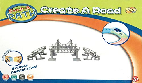 Bend a Path Toy Vehicle Playset Accessory - Bridge with Ramp with - Customize Ferrari