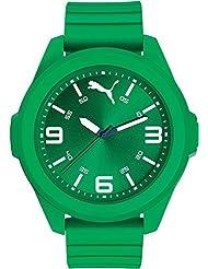 PUMA Mens 91131 Quartz Plastic and Polyurethane Casual Watch, Color:Green (Model: PU911311004)