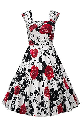 Nina Women Sexy 50s Style Swing Vintage Retro Rockabilly Evening Dress