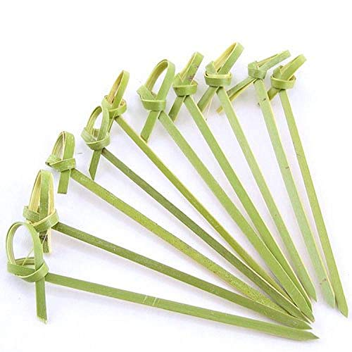 JapanBargain 1597x6 1597 Bamboo Picks Skewers, 300 pcs, Knotted Ends-6 inch 300pc