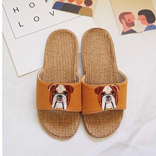 Thick 42 Linen Slippers Slip Resistant Seasons Indoor Children 43 Yellow Girl Boys Summer Female Men's Fankou Cotton ZwnqSOfxI