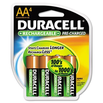 Precharged Recharg. Battery, AA, NiMh, PK4 by Duracell