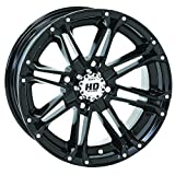 4/110 STI HD3 Alloy Wheel 12x7 2.0 + 5.0 Gloss Black ARCTIC CAT BOMBARDIER CAN-AM CANNONDALE HONDA JOHN DEERE KASEA KAWASAKI KYMCO SUZUKI YAMAHA