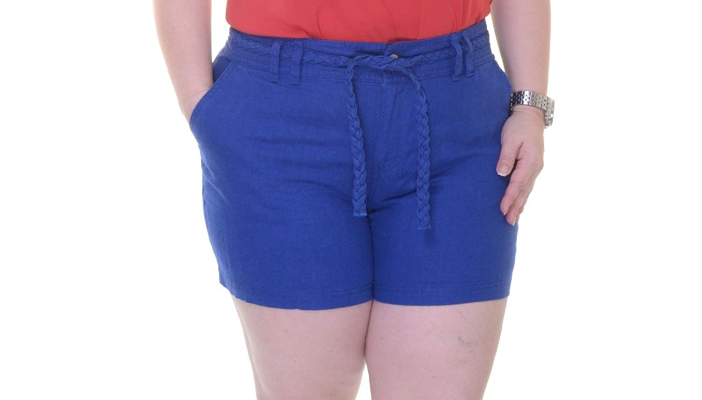 INC International Concepts Goddess Blue Shorts Size 6