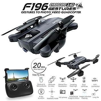 RONSHIN F196 Drone Plegable con cámara de 2MP HD Flujo óptico Dron ...