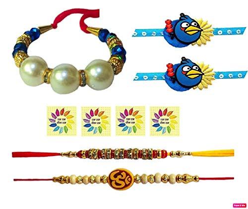 Rakhi Threads//Rakhi Bracelets//Rakhi for Brother Bhabhi on Indian Rakhi Rakshabandhan Festival Best Gift for Brother on Rakshabandhan Rakhi Bands 2 Pcs Rakhi for Bhaiya