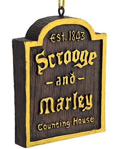 Tree Buddees A Christmas Carol Scrooge & Marley Counting House Sign Ornament (Marley Bob Christmas Carol)