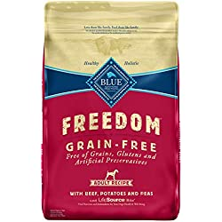 Blue Buffalo Freedom Grain Free Recipe for Dog, Beef Recipe, 11 lb