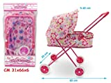TEOREMA Theorem 04041–Metal Pram with Canopy, Assorted Colours