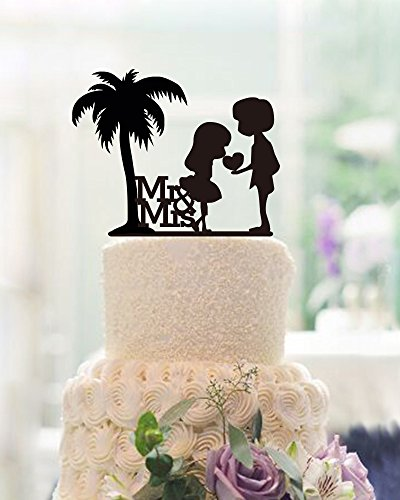 512KrhjIc8L The Best Palm Tree Wedding Cake Toppers
