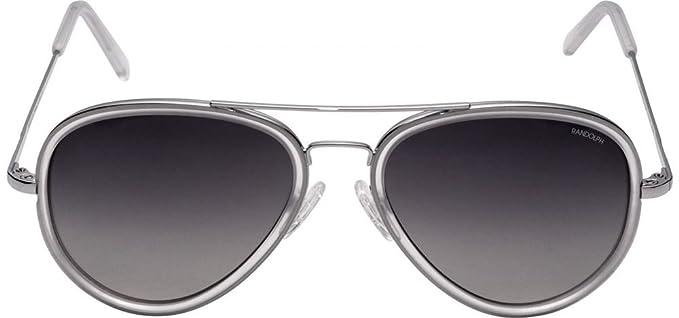 062479f1f2 Randolph Concorde Fusion Sunglasses Bright Chrome Skull Gray Gradient AR Matte  Crystal 57mm