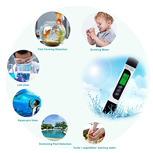 Zerosky Water Quality Tester, Digital 3-in-1 Water Tester with TDS, EC and  Temperature Meter, 0-9990ppm  Professional Quality Water tester Device with