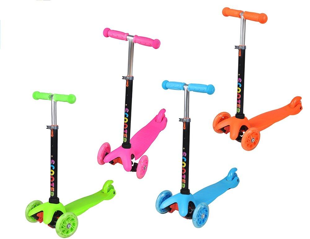 Kinderroller Cityroller Dreirad Roller 3-Rad Tretroller Kinder Farbauswahl #1107, Farbe:Blau Iso Trade